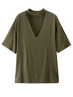GET $50 NOW   Join Zaful: Get YOUR $50 NOW!http://m.zaful.com/choker-drop-shoulder-t-shirt-p_259770.html?seid=pbtcc4tj3v0tvms31q8ol3vpg2zf259770