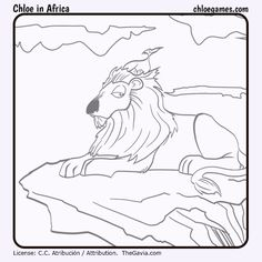 ChloeInAfricaLion by Fran-atic on DeviantArt Funny Games For Kids, Chloe Games, Africa, Deviantart, Lion, Painting, Fun Games For Kids, Fun Games For Children, Leo