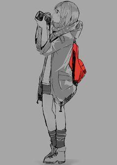 #anime girl with camera