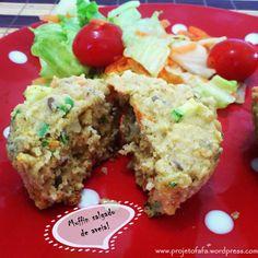 muffin salgado de aveia