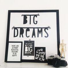 #Wordbanner #tip: Big dreams - Buy it at www.vanmariel.nl - € 11,95
