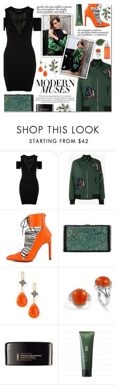 """""""How to wear a Cold Shoulder Dress!"""" by disco-mermaid ❤ liked on Polyvore featuring Topshop, Proenza Schouler, Privileged, Margo Morrison New York, BillyTheTree, Yves Saint Laurent, Kose, Paula's Choice, BCBGMAXAZRIA and Anja"""