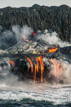 ALLPE Medio Ambiente Blog Medioambiente.org : Navegando en piragua entre la lava del volcán Kilauea