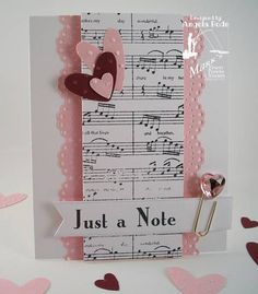 #3 Valentine Note Card by ohmypaper! - Cards and Paper Crafts at Splitcoaststampers