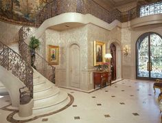 Luxurious French foyer designed by Nancy Anderson Ross
