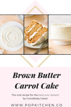This Brown Butter Carrot Cake Broke the Internet And Now We Cant Stop Dreaming About It #Grandbabycakes #Carrotcake #Brownbutter #Brownbuttercarrotcake #Cake #Dessert #Dessertideas Food Network Judges, Coconut Buttercream, Butter Cream Cheese Frosting, Carrot Cream, Hummingbird Cake, Best Carrot Cake, Spring Desserts, Moist Cakes, Food Website