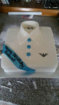Shirt cake design for 'him'.