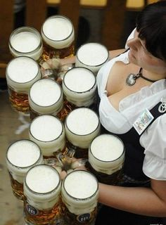 Beer, babes and non-stop partying – it's never too early to secure your spot at the Oktoberfest in Munich, Germany. Enjoy 16 days of beer guzzling, pork munching and Bavarian beauties. German Oktoberfest, Oktoberfest Beer, Octoberfest Girls, Octoberfest Costume, All Beer, Best Beer, Beer Maid, Whisky, Beer Girl