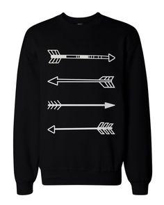Amazon.com: Tribal Arrows Men's Black Graphic Sweatshirt: Clothing