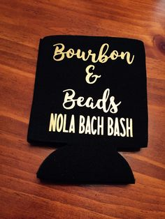 bourbon and beads bachelorette party can coolers / new orleans bachelorette party / nola bachelorette party favors / fast shipping by TheBridesLastBash on Etsy