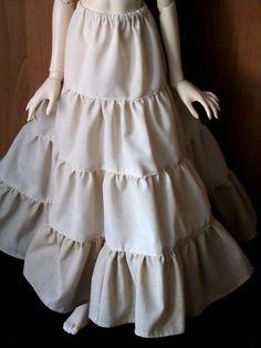 Handmade for dolls: Многоярусная юбка для куклы БЖД, выкройка