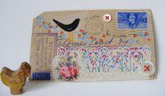 blackbird singing envelope by hens teeth, via Flickr