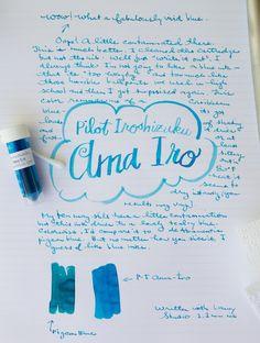 Ink Review: Pilot Iroshizuku Ama Iro