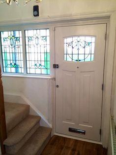 Fantastic inside photo of 1930s style compsite door