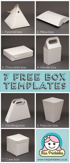 Miss Printables: Blank box templates - freebie!