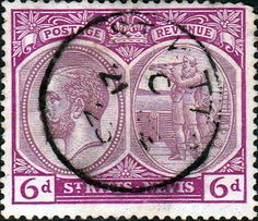 1921 St Kitts - Nevis King George V SG 46 Good Used SG 46 Scott 47 Other British Commonwealth Stamps for sale here