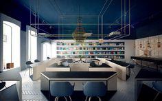 SCIENCE café & library by Anna Wigandt, Chișinău – Moldova » Retail Design Blog