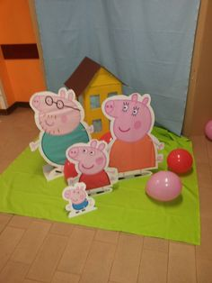 photo booth peppa pig Pig Birthday, 3rd Birthday Parties, Birthday Ideas, Peppa Pig, Photo Booth, Twins, Birthdays, Paper, Wedding