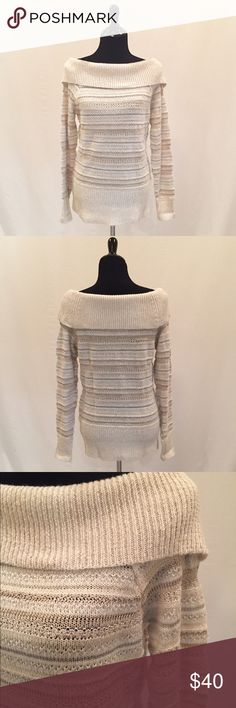 Spotted while shopping on Poshmark: NWOT WHBM Glittering Sweater! #poshmark #fashion #shopping #style #White House Black Market #Sweaters