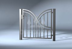 Fence Gate Design, Steel Gate Design, Balcony Railing Design, Iron Gate Design, House Gate Design, Gate Designs Modern, Modern Fence Design, Metal Gates, Iron Gates