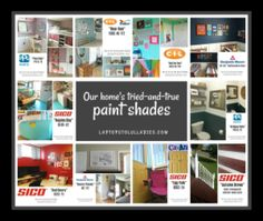 Our home's tried-and-true paint shades - Heather's Handmade Life
