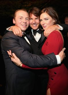 Tom Cruise, Rebecca Ferguson and Simon Pegg at event of Mission: Impossible - Rogue Nation (2015)