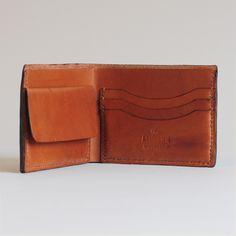 Bi-Fold Wallet - Almond leather wallet-SR