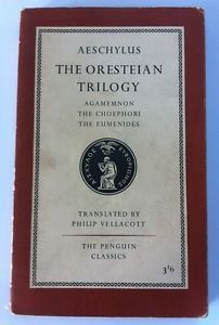 Vintage Penguin Paperback Book #L67, Aeschylus - The Oresteian Trilogy