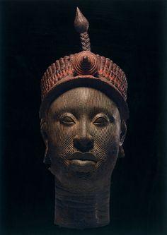 "Ifé crowned Head, century copper alloy (""The Kingdom of Ife: Sculptures from West Africa,"" British Museum) Arte Tribal, Tribal Art, Art Et Architecture, Statues, Afrique Art, African Sculptures, Art Populaire, Art Premier, Art Sculpture"