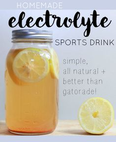 These DIY Electrolyte Drink recipes are so easy to make and are muc… These Recipes for DIY Electrolyte Drinks are so easy to prepare and far healthier than Gatorade! Perfect for hot summer days or after an intense workout! Homemade Electrolyte Drink, Homemade Gatorade, Homemade Pedialyte, Ginger Ale, Yummy Drinks, Healthy Drinks, Refreshing Drinks, Healthy Smoothies, Healthy Food