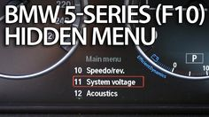 How to enter hidden menu in BMW F10 F11 F07 (5-series service test mode ...