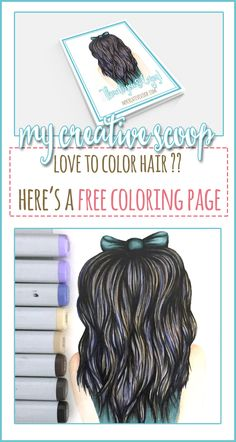 If you love to color hair or looking to practice coloring hair come download this FREE Coloring Page!
