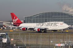 Virgin Atlantic - 747-400 (G-VBIG) LHR. Jan 2012.