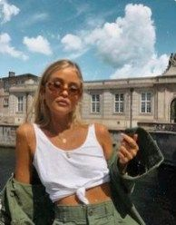 style inspiration + summer aesthetic + fashion + vacation outfit + beauty + beach look + sunglasses + tanned + mood board + sun kissed Look Fashion, Fashion Outfits, Aesthetic Fashion, 90s Fashion, Fashion Shoes, Fashion Trends, Fashion Tips, Foto Casual, Paris Mode