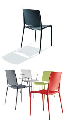 Rexite | Alexa - tackable Chair | armchair (in 10 colours) | design by Raul Barbieri