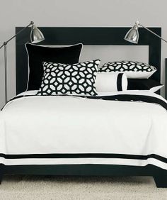 Make a statement with the crisp black and white of our Palmer Bedding Collection.