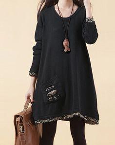 Black Sweater dress knitwear