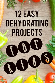 Wanting to teach your kids knife skills, proper food handling guidelines and create memories for life while stocking your pantry? Try out one of these easy dehydrating recipes for kids! Dehydrated Vegetables, Dehydrated Food, Raw Food Recipes, Mexican Food Recipes, Jar Recipes, Freezer Recipes, Freezer Cooking, Drink Recipes, Raw Food Detox