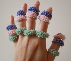the pastel clusters.