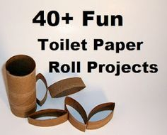 40 Fun Toilet Paper Roll – Craft Projects – Collection *My whole life I knew I could use toilet paper rolls for Something! Kids Crafts, Cute Crafts, Crafts To Do, Projects For Kids, Craft Projects, Arts And Crafts, Craft Ideas, Easy Crafts, Toilet Paper Roll Art