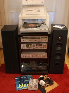 JVC Stereo Set Vintage Audio Shop 3 Maja 19 Katowice Poland www. Home Theater Sound System, Home Theatre Sound, Hifi Audio, Stereo Speakers, Audio Stand, Audio Rack, Stereo Cabinet, High End Audio, Audiophile