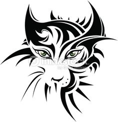 Tattoo Tribal Cat Stock Illustrations, Cliparts And Royalty Free Tattoo Tribal Cat Vectors Tiger Tattoo, Cat Vector, Vector Art, Body Art Tattoos, Tribal Tattoos, Tatoos, Abstract Animal Art, Tattoo Style, Japanese Embroidery