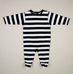 Velour Striped Footed Coverall - Stripes, Dots & Cozy Coveralls for Baby by Leveret - Events