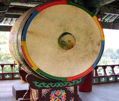 Korean Buddhism images | Dharma drum at Bongeunsa (Buddhist temple) in Seoul South Korea ...