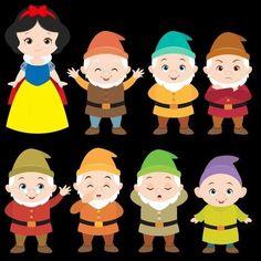 Snow White 7 Dwarfs, Fairy Tale Activities, Diy And Crafts, Crafts For Kids, Owl Classroom, Kawaii Disney, Snow White Birthday, Felt Banner, Disney Printables