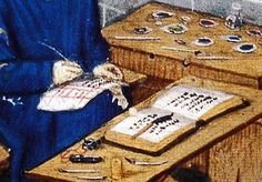 medieval illuminator portrait - Buscar con Google