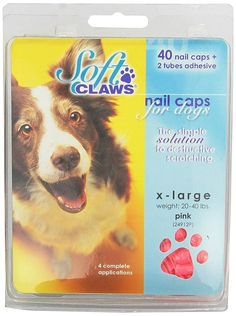 Soft Claws Dog and Cat Nail Caps Take Home Kit, X-Large, Pink ** Additional details at the pin image, click it  - Cat Grooming