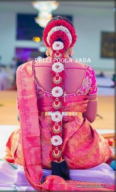 To get one for yourself or for your friends and relatives for their wedding kindly contact 8779268166 . South Indian Wedding Hairstyles, Bridal Hairstyle Indian Wedding, Bridal Hairdo, South Indian Weddings, Indian Hairstyles, Bride Hairstyles, Hairdo Wedding, Saree Wedding, Hair Decorations