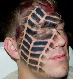 Tire tread makeup Some of the Latest and Best Halloween Costumes 2014... See Them All !