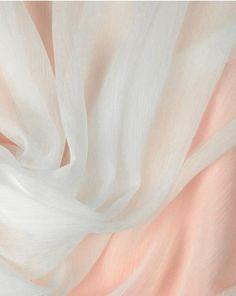 Silk Chiffon Fabric - White